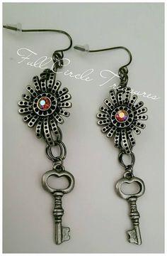 2 1/2 inch drop earrings handcrafted with by FullCircleTreasures