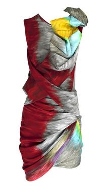 PETER PILOTTO | Torsion printed silk dress