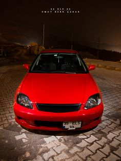 Lady in red. Honda Civic Vtec, Civic Jdm, Honda Civic Coupe, Honda Accord, My Dream Car, Dream Cars, Slammed Cars, Street Racing Cars, Japanese Domestic Market