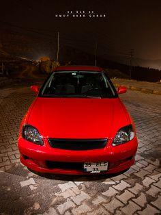 Red Honda Civic  #Honda #HondaCivic #HondaCars