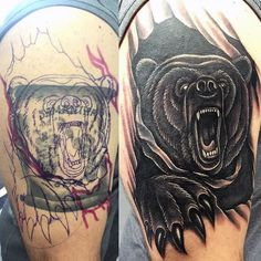 Discover beastly benevolence with the top 100 best bear claw tattoo designs for men. Explore cool ideas from realistic ripped skin to traditional tribal. Bear Claw Tattoo, 3d Tattoos, Bear Tattoos, Gif Disney, Type Illustration, Bear Claws, Tattoo Designs For Women, Arms, Beautiful