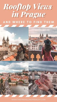 Popular for its orange colored rooftops and gothic towers, Prague is best viewed from above. Here is the ultimate list of all the rooftop views in Prague! Best rooftop views in Prague and where to find them by the Travelling Frenchy Europe Destinations, Europe Travel Tips, Travel Guides, Travel Info, Travel List, Travel Hacks, Travel Essentials, European Travel, Europe Budget