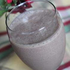 'Chocopeanutbanana Smoothie Recipe - This smoothie tastes like a chocolate, peanut butter, and banana yogurt minus the yogurt. It's fast and easy and good for breakfast. Garnish with a little extra chocolate syrup if you like.'