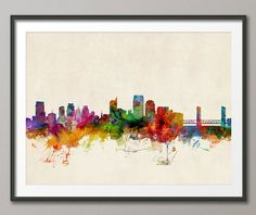 Sacramento California Skyline, Art Print - 12x16 up to 24x36 inch (608) on Etsy, $21.49