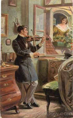 serenade (or perhaps annoying the neighbors...)