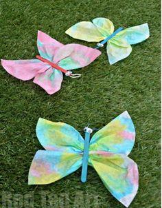 Coffee Filter Butterfly Craft | AllFreeKidsCrafts.com