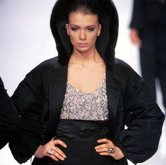 Angelika Kallio Show Claude Montana fw 1991