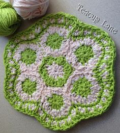 Ravelry: Teacuplanes Grandmothers Flower Garden Crocheted Potholder