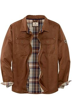 Carhartt Men's Weathered Canvas Shirt Jacket Snap Front, Frontier Brown, XX-Large at Amazon Men's Clothing store: Work Utility Outerwear Red Flannel Mens, Canvas Shirts, Carhartt, Shirt Jacket, Casual Button Down Shirts, Military Jacket, Amazon, Store, Brown