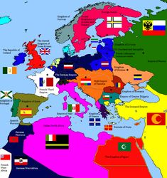 alternate flag of italy Alternate Worlds, Alternate History, Bataille De Waterloo, History Of Germany, European Map, Fallen Empire, Fantasy Map, Fantasy Setting, Old Maps