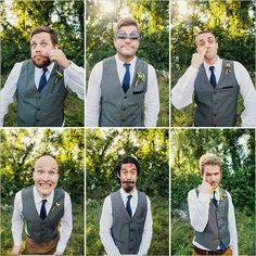 goofy groomsmen faces  #tennesseewedding #weddingchicks http://www.weddingchicks.com/2013/12/27/family-affair-wedding/