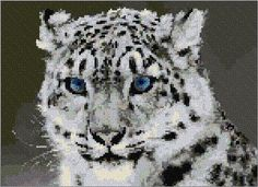 Free pdf Cross Stitch | White Leopard xstitch Chart | Design