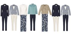 Spring capsule wardrobe - smart trouser choices with jackets http://ht.ly/JdOZz