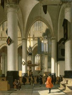 hendrick van streeck | imaginary interior of a protestant church c 1690 oil on canvas 59 x 50 ...