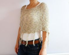 Looking for your next project? You're going to love Fringed Boho Capelet by designer Camelia Mit.