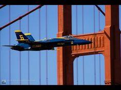 Blue Angels buzz Golden Gate Bridge