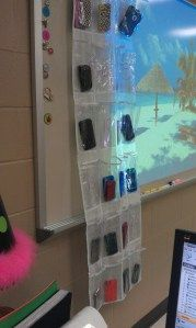 Cell-phone Classroom Organizer (perhaps stored in a little bit of a more secure area - just saying).