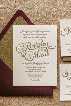 Marsala Inspired Wedding Invites