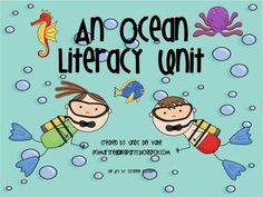 42 pages ocean themed literacy unit