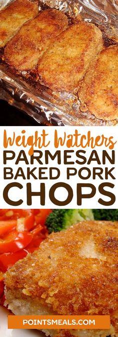 #weight_watchers Parmesan Baked Pork Chops #pork #parmesan #dinner