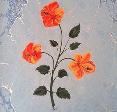 Hibiscus marbling by Firdevs Çalkanoğlu Ebru Art, Fabric Paint Designs, Earth Pigments, Paint Color Palettes, Turkish Art, Marble Art, Sketch Painting, Orange Flowers, Art Boards