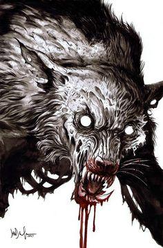 """Zombie werewolf by Dave Wachter   #zombietuesday    #werewolf - Sirena """"Luna Nocturna"""" Roman - Google+"""
