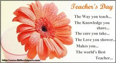 Teachers Day Messages SMS Wishes Shayari in Hindi   Teachers Day Messages SMS Wishes Shayari in Hindi  Guru Brahma; Gurur Vishnu;  Guru Devo Maheshwara;  Guru Sakshat Para Brahma  Tasmai Sree Gurave Namaha.  Happy Teachers Day  SMS Shayari Teachers Day