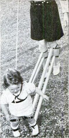 Teach your child to walk without ever having to touch the thing!  - 11 Childcare Inventions From 1900's That Will Make You Appreciate Being Born In The Future