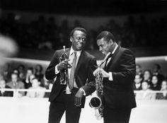 Miles Davis and Wayne Shorter