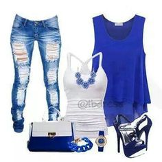 Blue outfit. I could test that also in different colours! Till example purple, red or brown