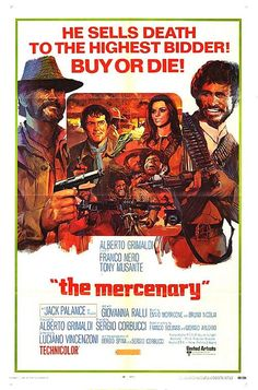 "The Mercenary (Italian: Il mercenario), also known as A Professional Gun, is a 1968 spaghetti western film directed by Sergio Corbucci. The film stars Franco Nero, Jack Palance, Tony Musante and Giovanna Ralli, and features a musical score by Ennio Morricone and Bruno Nicolai. The film takes place during the Mexican Revolution and is a well-known example of the ""Zapata Western"" subgenre."