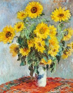 Claude Monet-Sunflowers