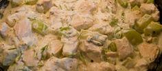 Kip met courgette in kruidenkaas