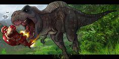 T-Rex by the-evil-legacy on DeviantArt Jurassic Park Series, Jurassic World, Indominus Rex, Tyrannosaurus Rex, Big Cats Art, Tiger Art, Dinosaur Art, Man Vs, T Rex