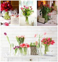 decoracao de casamento tulipas coloridas