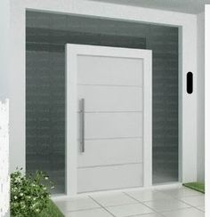 A white pivot door can add a sleek and sophisticated look to your modern home. Find out more about pivot doors, OR design your own at http://pivotdoorcompany.com/Exterior-Doors/.