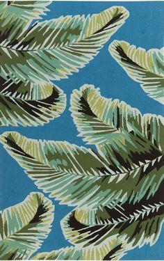 Blue Tropical Burst Area Rug. Tropical Decor: http://www.caronsbeachhouse.com/tropical-style-decor/