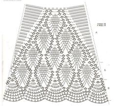 Crochet Dress Patterns - Beautiful Crochet Patterns and Knitting Patterns ALL PINEAPPLES SKIRT How can one go wrong with a tried and tested 'pineapple' pattern. Once again a beautiful chart fo. Crochet Pineapple Skirt Pattern This skirt is doable - I Crochet Skirt Pattern, Crochet Skirts, Crochet Motifs, Crochet Diagram, Crochet Chart, Crochet Clothes, Crochet Lace, Crochet Stitches, Crochet Summer