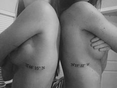 Latitude and Longitude of where we grew up...best friend tat?