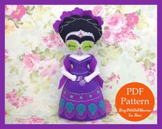 A personal favorite from my Etsy shop https://www.etsy.com/listing/482308767/frida-of-day-of-the-dead-doll-felt-doll
