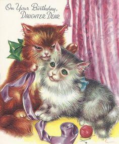 JEANNES VINTAGE GREETING CARDS By Jarysstuff