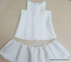 tutorial para hacer un vestido de niña con sisas cuadradas