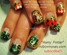Is this HP inspired nail design??? Yes, yes it is....