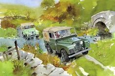 Land Rover Series Cartoon.