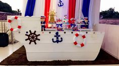 decoração marinheiro para mesário