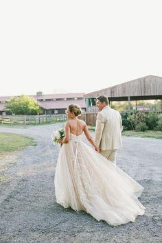 Jim Hjelm wedding dress: http://www.stylemepretty.com/2017/02/23/unique-floral-motif-wedding-dress-for-a-dream-rustic-wedding/ Photography: OneLove - http://www.onelove-photo.com/
