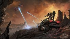 Halo Concept Artwork from Issac Hannaford. Really liking his art for Halo Halo 3 Odst, Halo 5, Halo Wallpaper, Widescreen Wallpaper, Wallpapers, Halo Reach, Halo Warthog, Halo Armor, Halo Sword