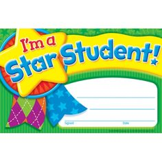 I'm a Star Student (Star Medal) Recognition Awards. Reward your students for their special achievements! Kindergarten Math Worksheets, Teaching Kindergarten, Teaching Tools, Kids Awards, Student Awards, Certificate Templates, Printable Certificates, Award Certificates, Star Students