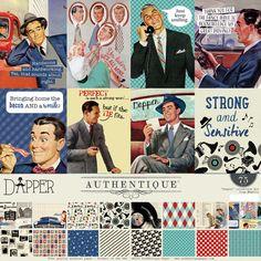 Scrapbook Generation - Authentique Dapper 12x12 Collection Kit, $19.99 (http://www.scrapbookgeneration.com/authentique-dapper-12x12-collection-kit/)