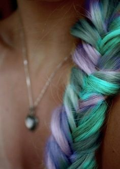 color blocking hair